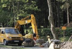 Budowa kanalizacji i chodnika przy Alei Żeromskiego we Władysławowie