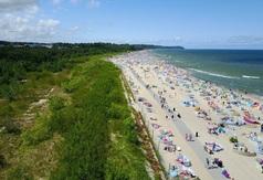 Kładka na plaży we Władysławowie