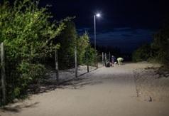 Nowe lampy na wejściu na plażę nr 1 we Władysławowie