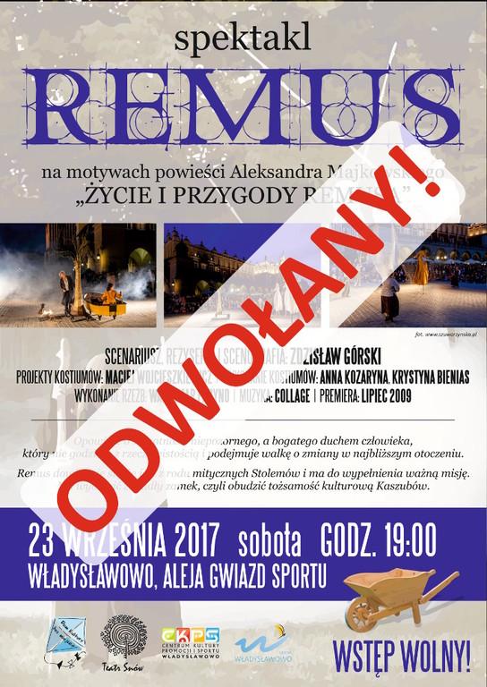 Spektakl Remus - Teatr Snów - Władysławowo 2017 - odwołany (link otworzy duże zdjęcie)