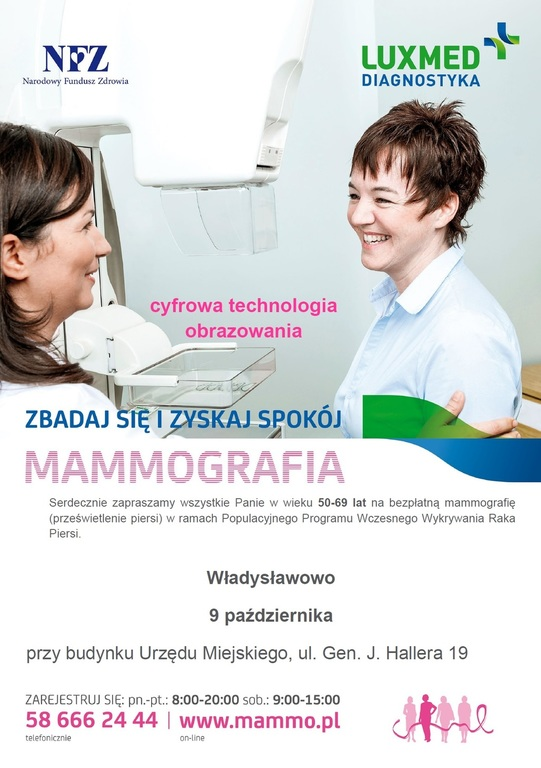 Mammografia we Władysławowie (link otworzy duże zdjęcie)