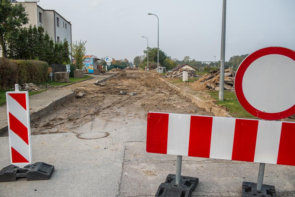 Przebudowa ul. Żwirowej we Władysławowie (17 października) (link otworzy duże zdjęcie)