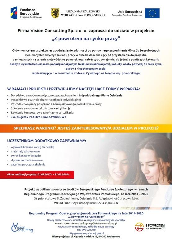 Plakat - Z powrotem na rynku pracy (link otworzy duże zdjęcie)