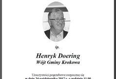Informacja o pogrzebie Wójta Gminy Krokowa Henryka Doeringa