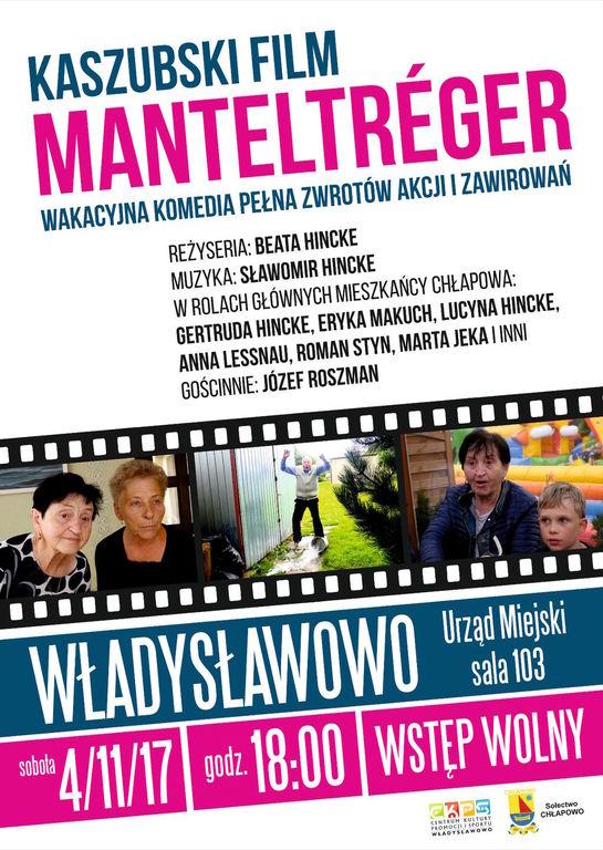 Kaszubski film MANTELTRÉGER - projekcja we Władysławowie (link otworzy duże zdjęcie)