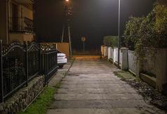 Oświetlenie typu LED na łączniku przy ul. Fl. Ceynowy we Władysławowie