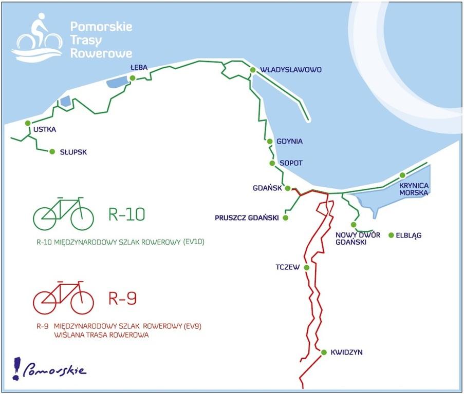 Przebieg ścieżek w ramach projektu Pomorskie Trasy Rowerowe (link otworzy duże zdjęcie)
