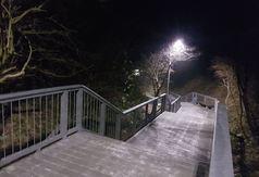 Wejście na plażę nr 14 w Chłapowie oświetliło UFO