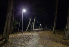 Oświetlenie wejścia nr 35 w Ostrowie