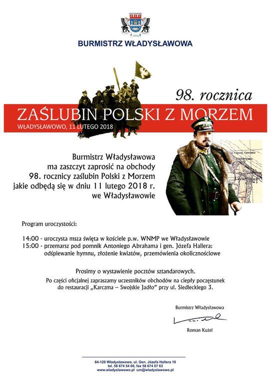 98. rocznica zaślubin Polski z Morzem - Władysławowo 11 lutego 2018 (link otworzy duże zdjęcie)