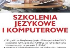 Szkolenia językowe i komputerowe dla Pomorzan - ulotka