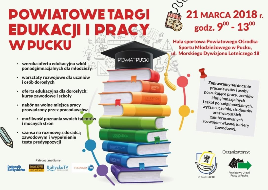 Powiatowe Targi Edukacji i Pracy w Pucku (link otworzy duże zdjęcie)