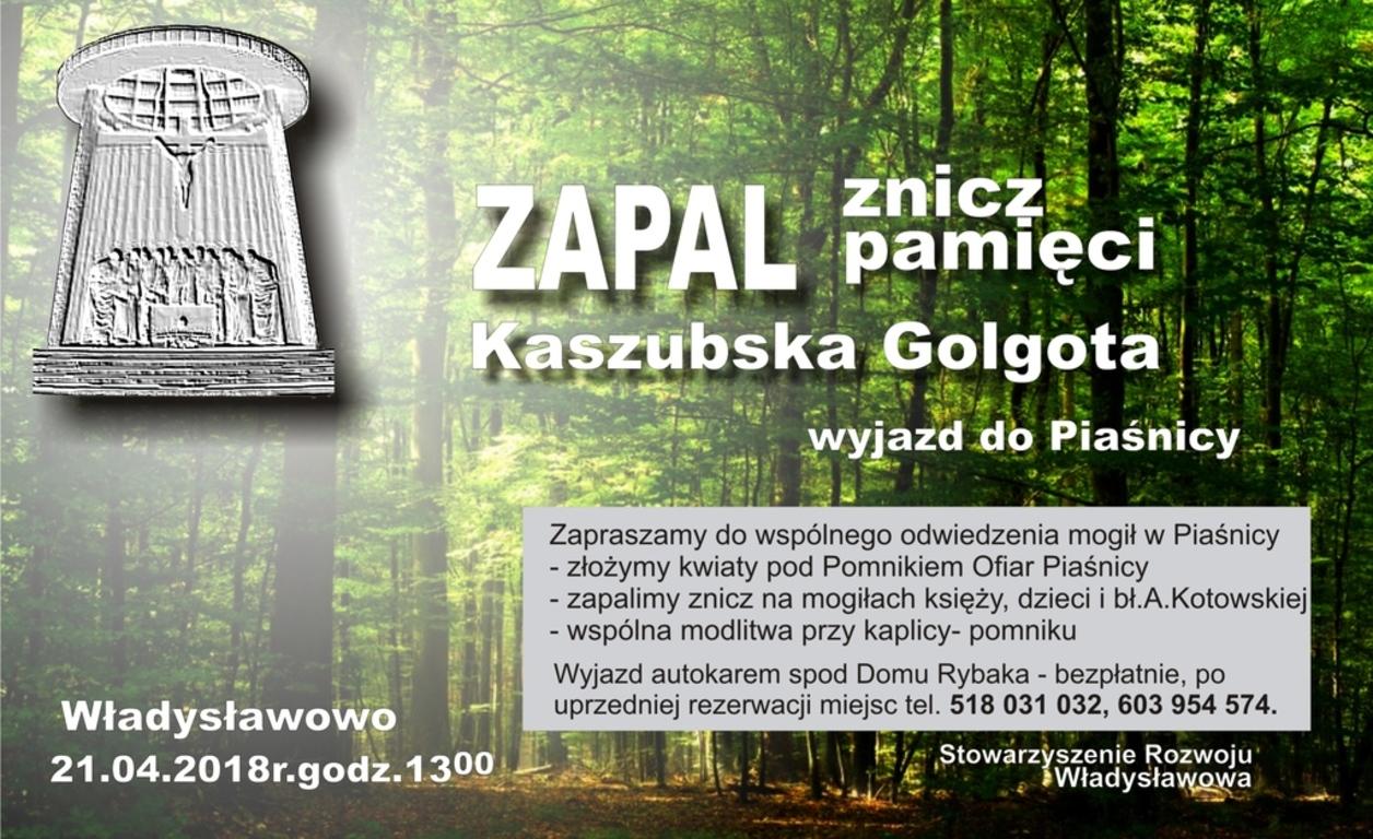 Zapal znicz pamięci - wyjazd z Władysławowa do Kaszubskiej Golgoty w Piaśnicy (link otworzy duże zdj