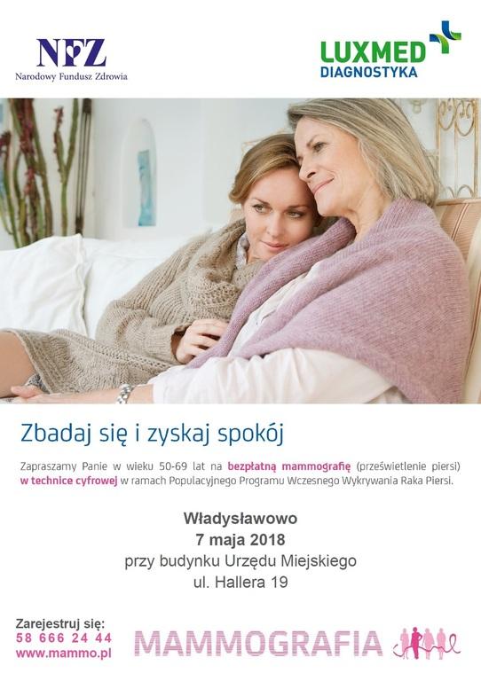 Bezpłatne badania mammograficzne (link otworzy duże zdjęcie)