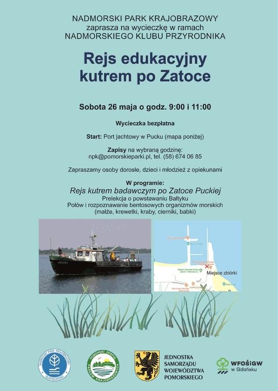 Zaproszenie na wycieczkę kutrem po Zatoce Puckiej (link otworzy duże zdjęcie)