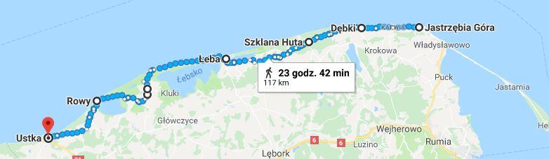 Marsz Onkorejs - trasa