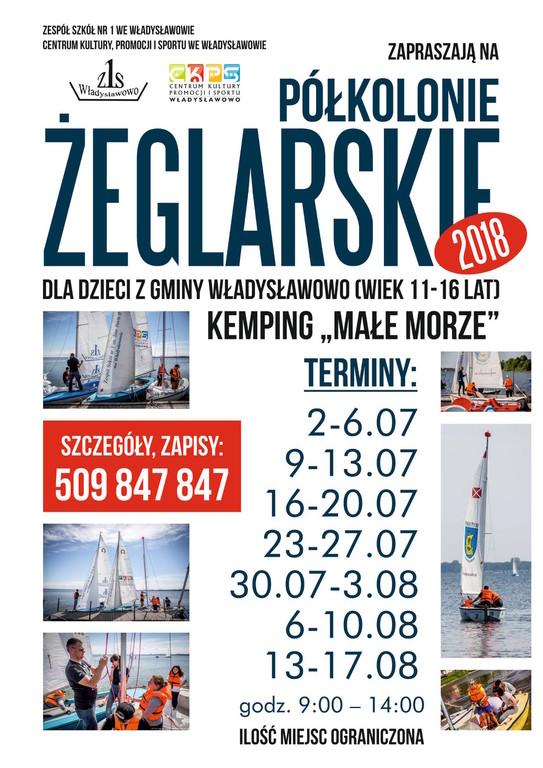 Półkolonie żeglarskie 2018, Władysławowo (link otworzy duże zdjęcie)