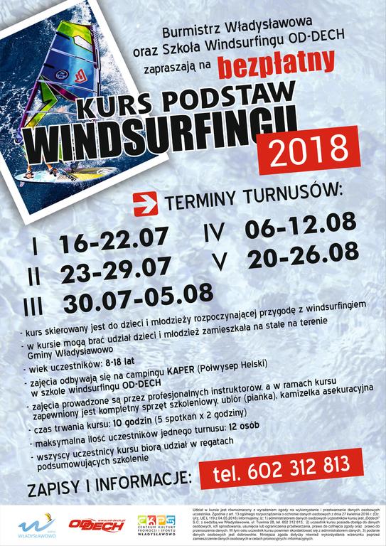 Bezpłatny kurs podstaw windsurfingu Władysławowo 2018 (link otworzy duże zdjęcie)