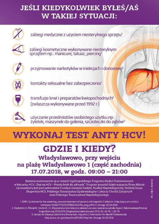 Test na HCV - bezpłatne badania we Władysławowie (link otworzy duże zdjęcie)
