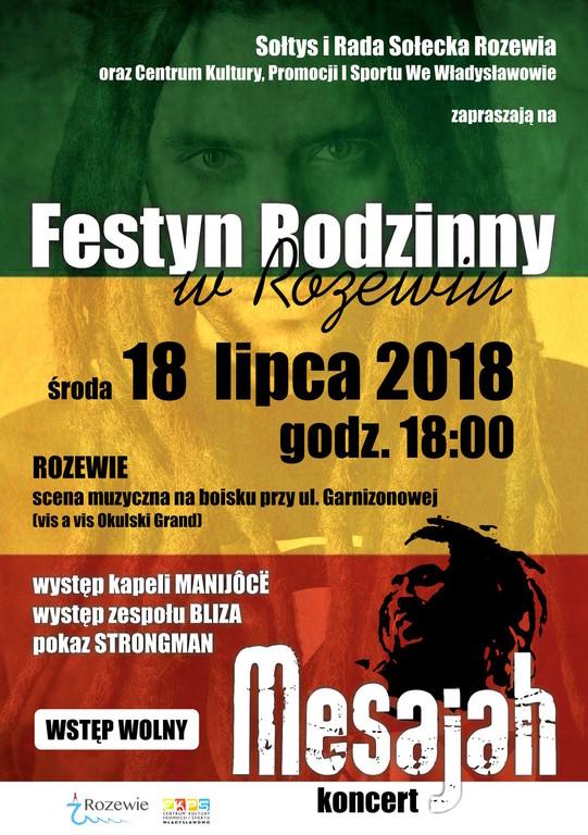 Festyn Rodzinny Rozewie 2018 - koncert Mesajah (link otworzy duże zdjęcie)