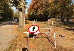 Budowa ścieżki rowerowej Władysławowo-Jastrzębia Góra (18 października 2018)