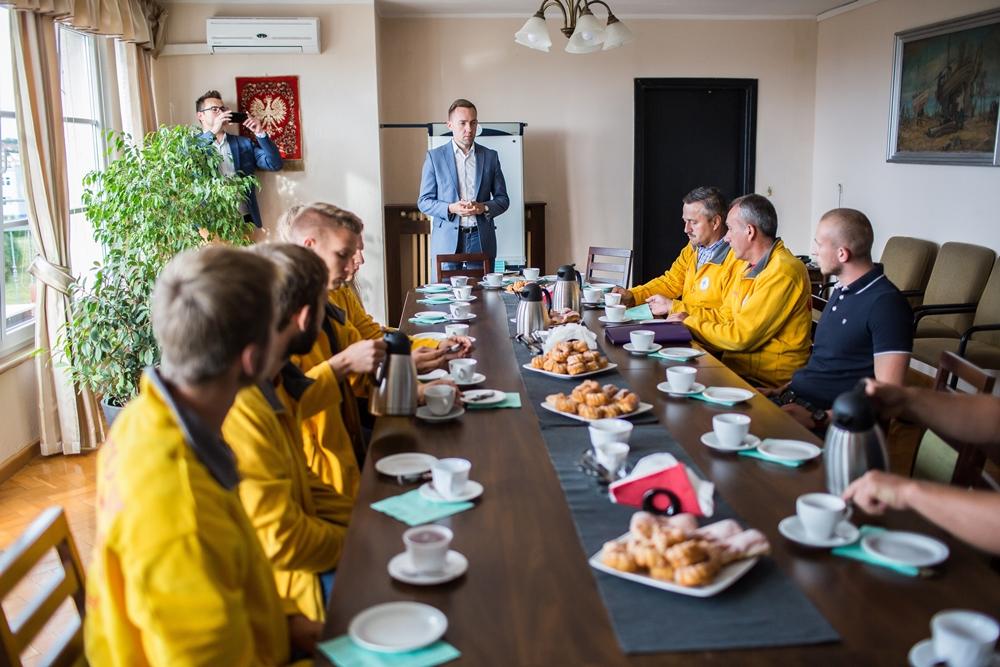 Burmistrz podziękował ratownikom za sezon letni 2018 (link otworzy duże zdjęcie)