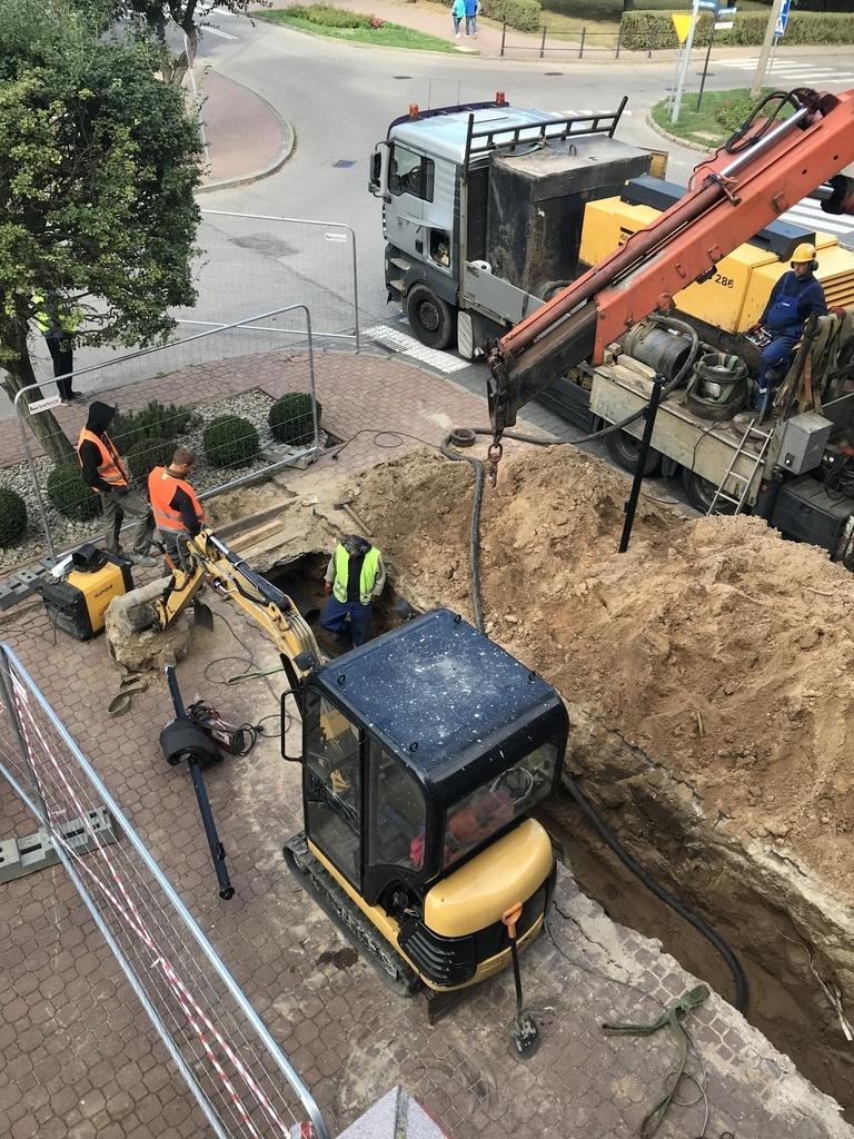 Budowa przyłącza wraz z węzłem ciepłowniczym przy Domu Rybaka (link otworzy duże zdjęcie)
