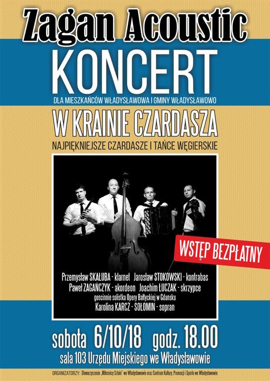 Zagan Acoustic - W krainie czardasza - koncert Władysławowo 6/10/2018 (link otworzy duże zdjęcie)