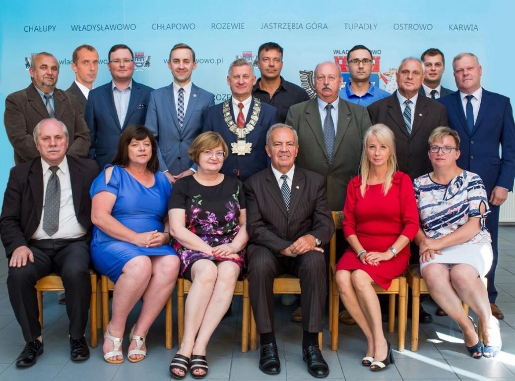Burmistrz i Radni Miejscy VII kadencji 2014-2018 (link otworzy duże zdjęcie)
