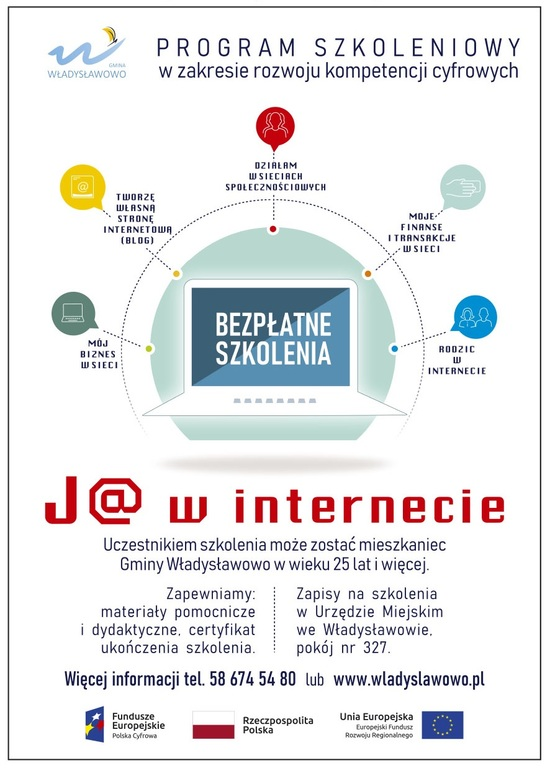 Bezpłatne szkolenia J@ w Internecie (link otworzy duże zdjęcie)