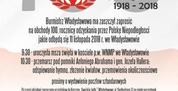 Gminne obchody 100. rocznicy Odzyskania Niepodległości