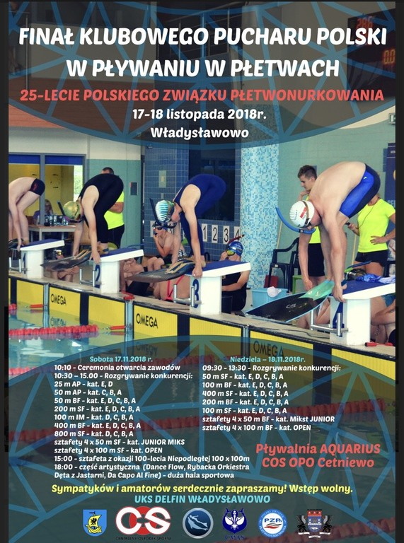 Finał klubowego PP pływania w płetwach (link otworzy duże zdjęcie)