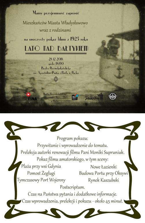 Projekcja filmu Lato nad Bałtykiem (28/12) (link otworzy duże zdjęcie)