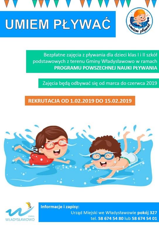 Nauka pływania dla dzieci z klas I-II SP (link otworzy duże zdjęcie)