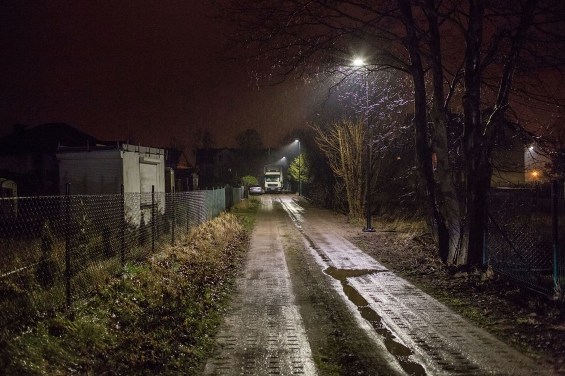 Nowe oświetlenie przy ulicy Orzeszkowej we Władysławowie (link otworzy duże zdjęcie)