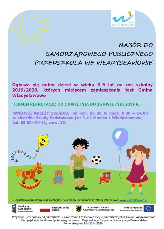 Nabór do Przedszkola Publicznego (link otworzy duże zdjęcie)