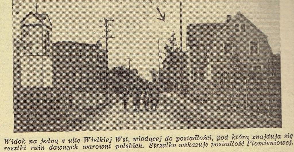 Ujęcie zabudowań Wielkiej Wsi z 1939 roku (link otworzy duże zdjęcie)