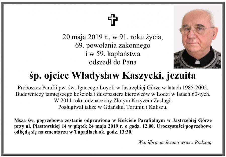 Nekrolog o. Władysław Kaszycki SJ (link otworzy duże zdjęcie)
