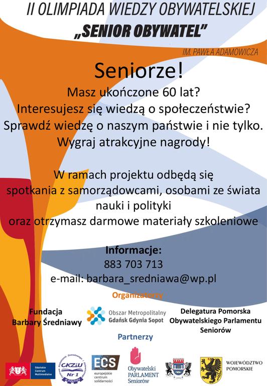II Olimpiada Wiedzy Obywatelskiej Senior Obywatel (link otworzy duże zdjęcie)
