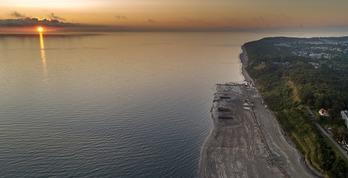 Nowe plaże w Gminie Władysławowo, refulacja plaży w Jastrzębiej Górze. foto. jastrzebiagora.in
