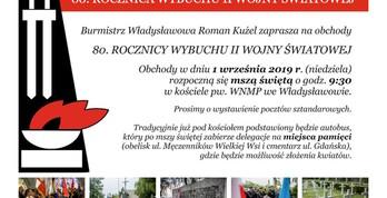 80. rocznica wybuchu II wojny światowej - Władysławowo