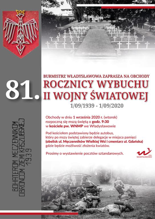 81. rocznica wybuchu II wojny swiatowej plakat