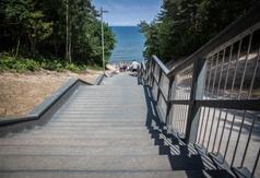 Zejście na plażę nr 23 w Jastrzębiej Górze