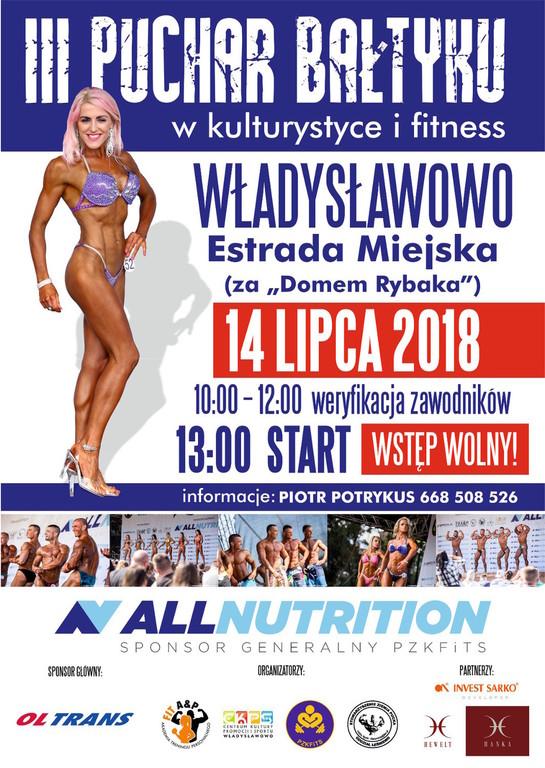 III Puchar Bałtyku w kulturystyce i fitness Władysławowo 2018