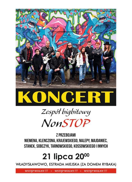 koncert zespołu bigbitowego NON STOP, Władysławowo 2018