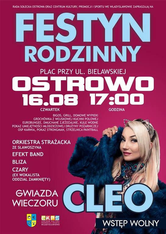Festyn Rodzinny w Ostrowie - koncert CLEO (2018)