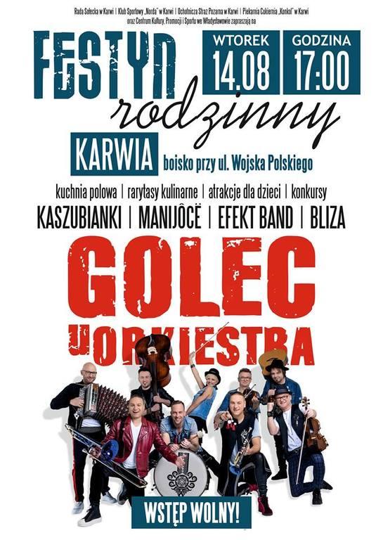 Festyn Rodzinny w Karwi - koncert Golec uOrkiestra (2018)