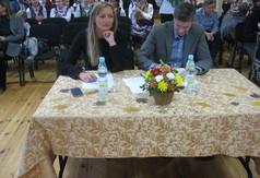 Na zdjęciu jury - kierownik Wydziału Promocji Ilona Mazurek, Główny Instruktor ds. Dziedzictwa Kultur