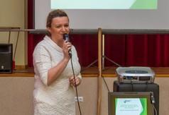 Na zdjęciu Wioletta Wilkos – Prezes Zarządu Stowarzyszenia Lokalna Grupa Działania Ziemi Kraśnickie