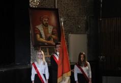 Na zdjęciu uczniowie z ZS nr 2 w Kraśniku z pocztem sztandarowym.